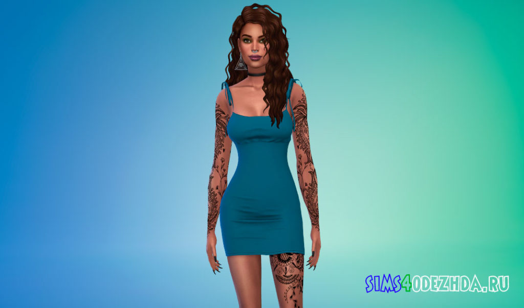 Супер милое летнее платье для Симс 4 – фото 3