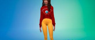 Удобные женские свитшоты для Симс 4 – фото 1