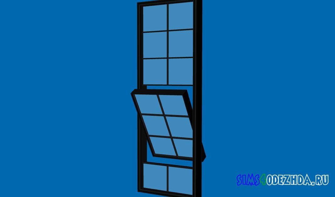 Высокое-окно-с-открытой-створкой-для-Симс-4-–-фото-1