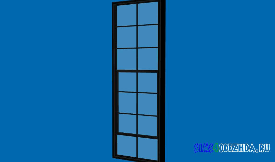 Высокое-окно-с-закрытой-створкой-для-Симс-4-–-фото-1