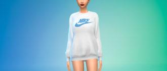 Женский брендовый свитер для Симс 4 – фото 1
