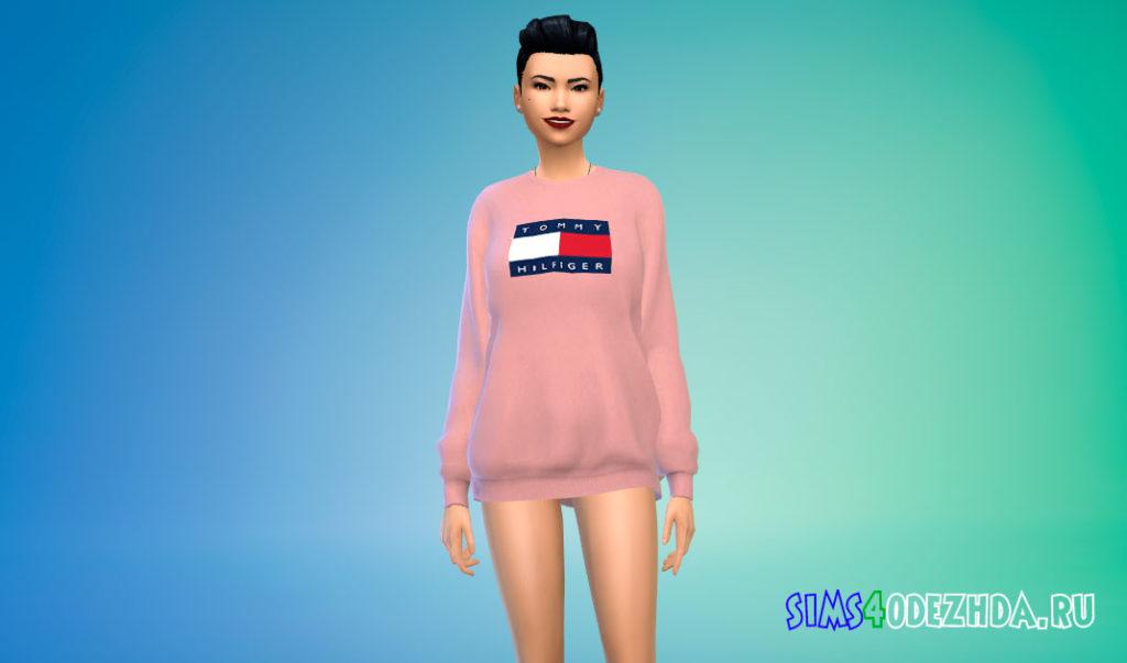 Женский брендовый свитер для Симс 4 – фото 3