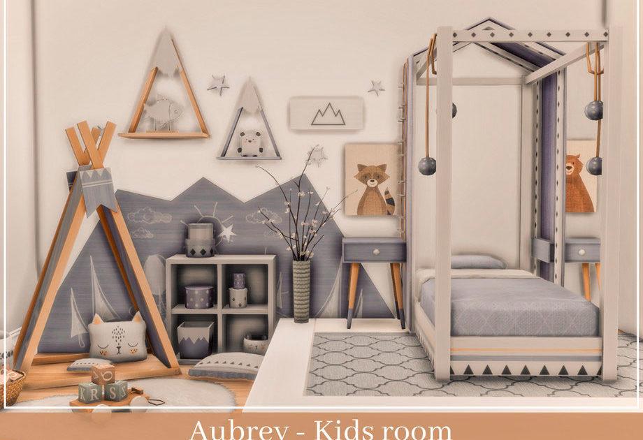 Детская комната Aubrey для Симс 4 – фото 1
