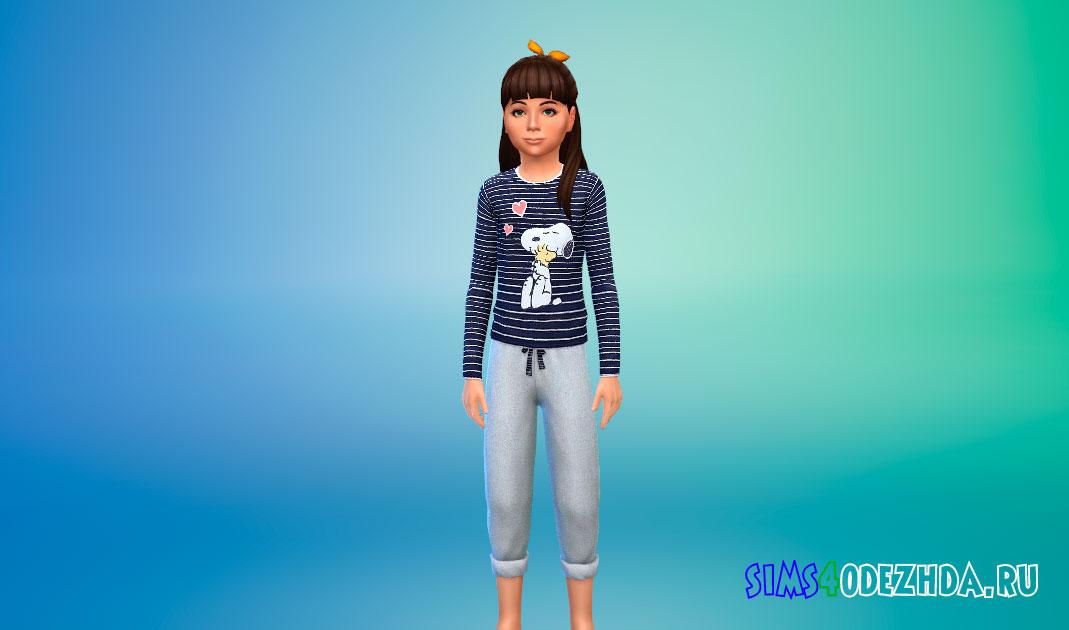 Детская пижама для Симс 4 – фото 1