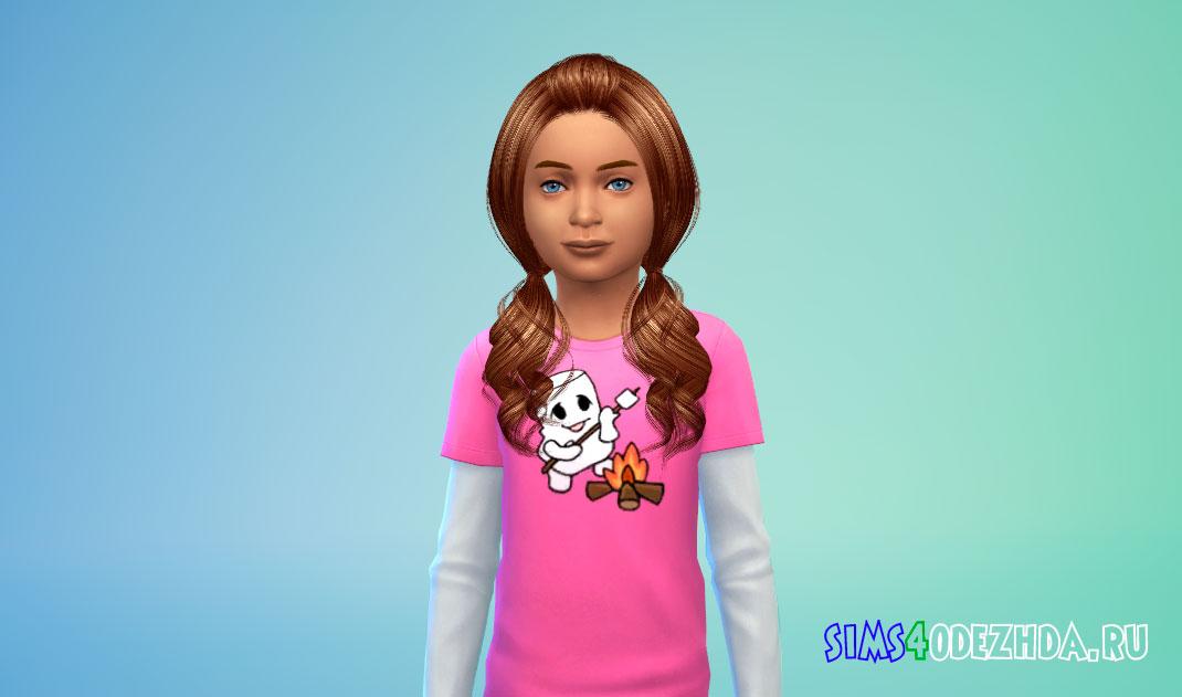 Детская прическа Ellie Hairstyle от Cazy для Симс 4 – фото 1