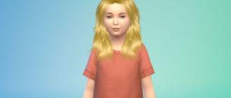 Детские волосы Lucy от TsminhSims для Симс 4 – фото 1