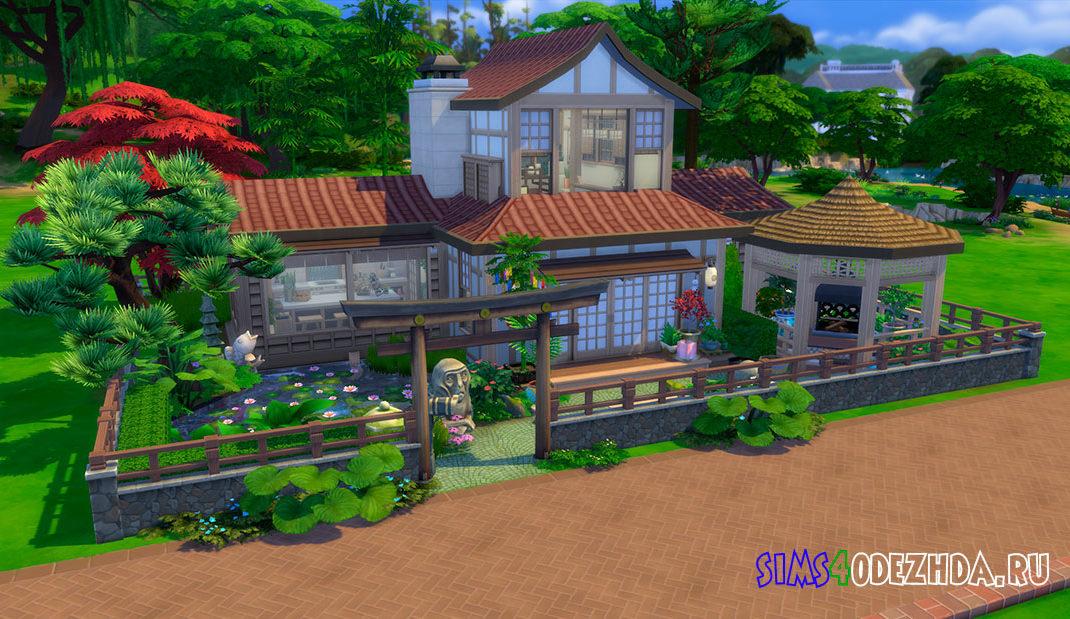 Дом вдохновленный японской архитектурой для Симс 4 – фото 1