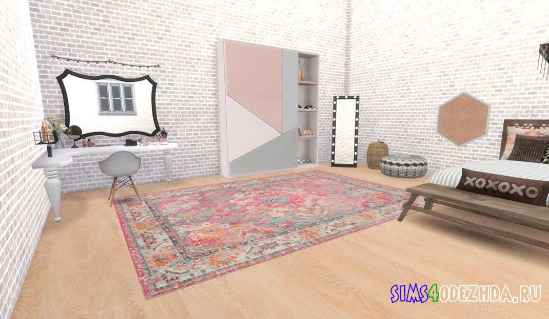 Фон для CAS Комната в стиле бохо для Симс 4 – фото