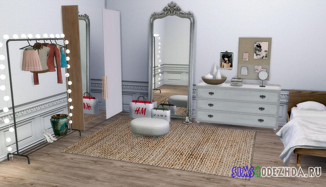 Фон для CAS с белой комнатой для Симс 4 – фото