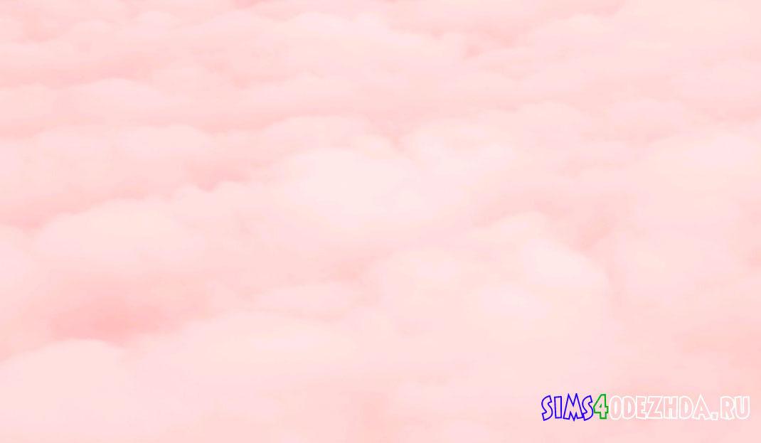 Фон для CAS с розовыми облаками для Симс 4 – фото