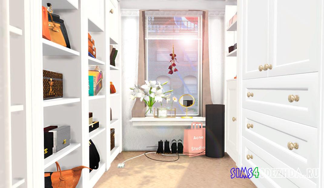Фон с гардеробной для CAS для Симс 4 – фото