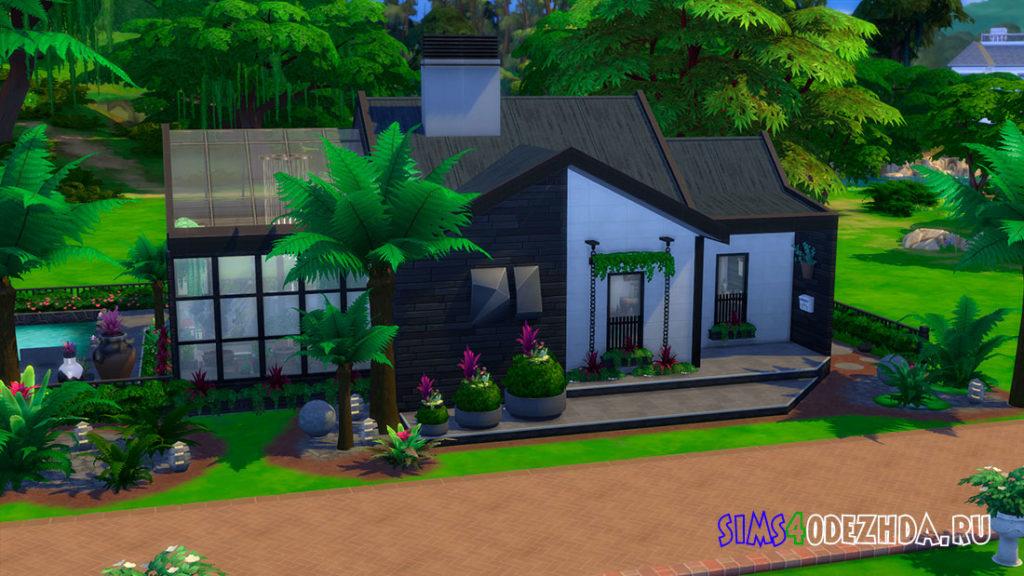 Японский маленький дом в стиле модерн для Симс 4 – фото 1