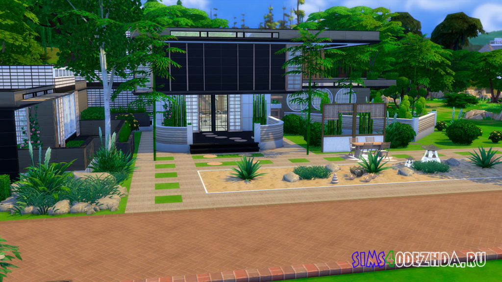 Японский роскошный дом для Симс 4 – фото 1