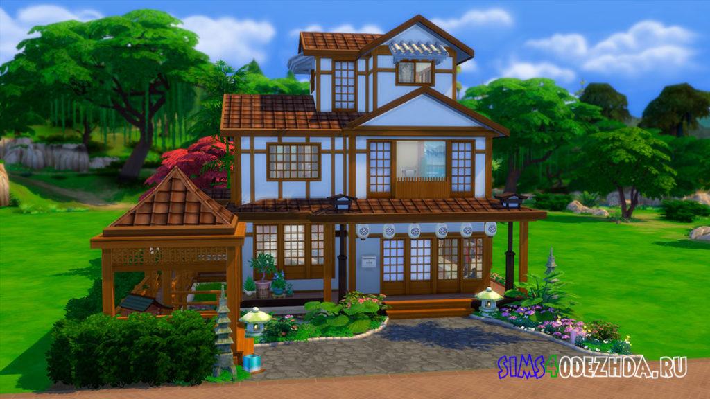 Японский семейный дом для Симс 4 – фото 1