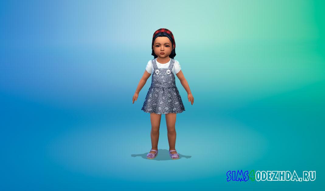 Яркое платье для малышей для Симс 4 – фото 1