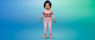 Комплект свитера и штанов для девочек малышей для Симс 4 – фото 1