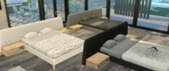 Кровать Almond для Симс 4 – фото