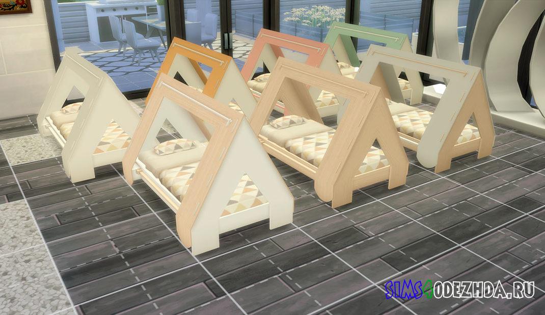 Кроватка-палатка для малышей для Симс 4 – фото