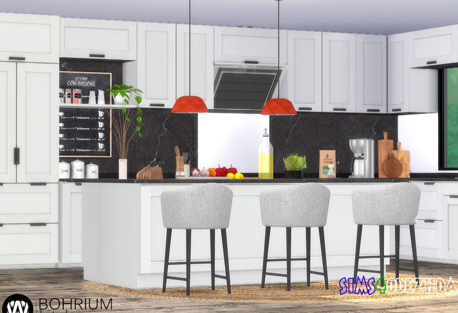 Кухня Bohrium для Симс 4 – фото 1