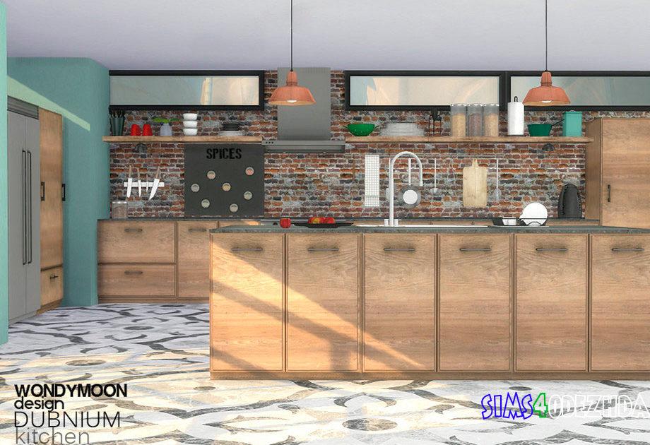 Кухня Dubnium для Симс 4 – фото 1