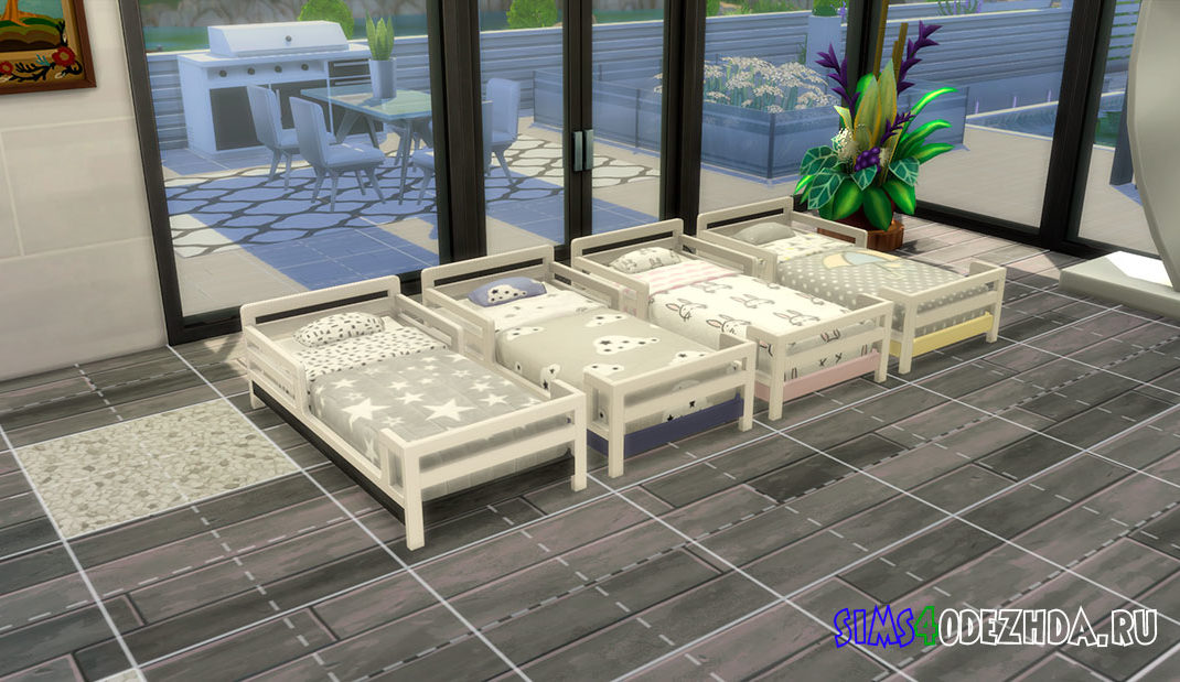 Милая кроватка для малышей для Симс 4 – фото