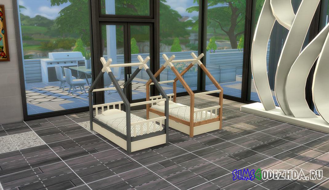 Милая кроватка-вигвам для малышей для Симс 4 – фото