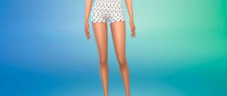 Пижамные шорты для Симс 4 – фото 1
