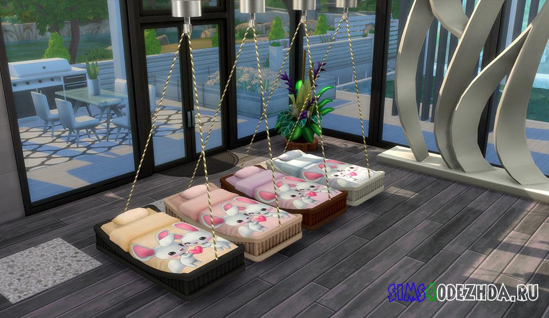 Подвесная кровать-качалка для Симс 4 – фото