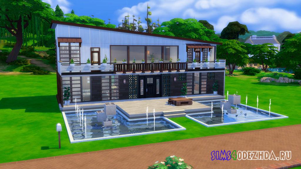 Современный японский дом для Симс 4 – фото 1
