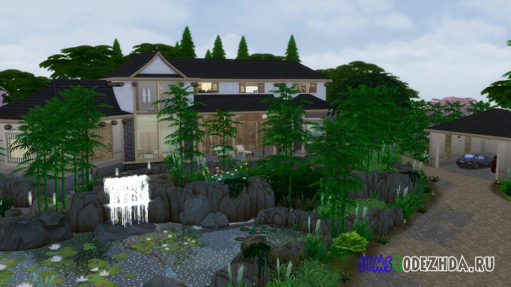 Современный японский особняк для Симс 4 – фото 1