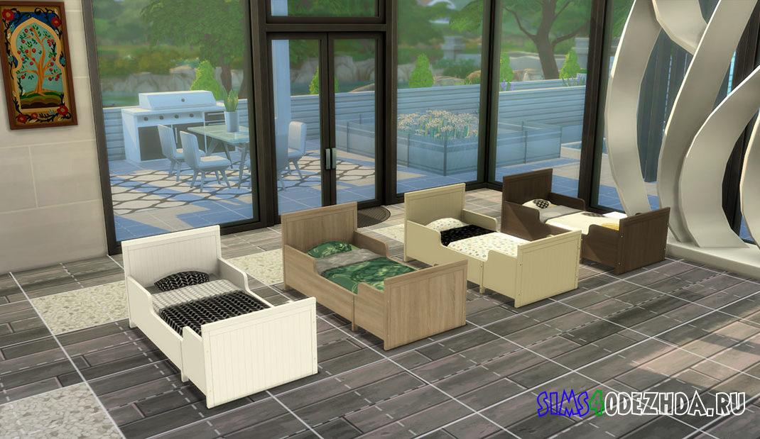 Стильная кровать для малышей для Симс 4 – фото
