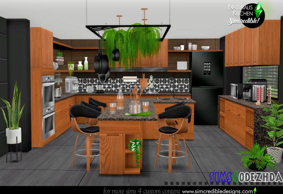 Стильная кухня с растениями для Симс 4 – фото 1