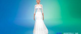 Свадебное платье с бантом на спине для Симс 4 – фото 1