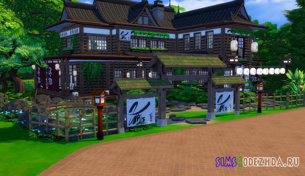 Вилла в японском стиле для Симс 4 – фото 1