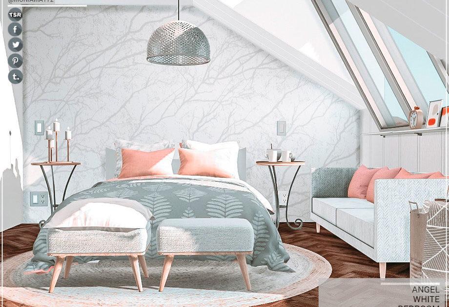 Белая спальня Angel для Симс 4 – фото 1