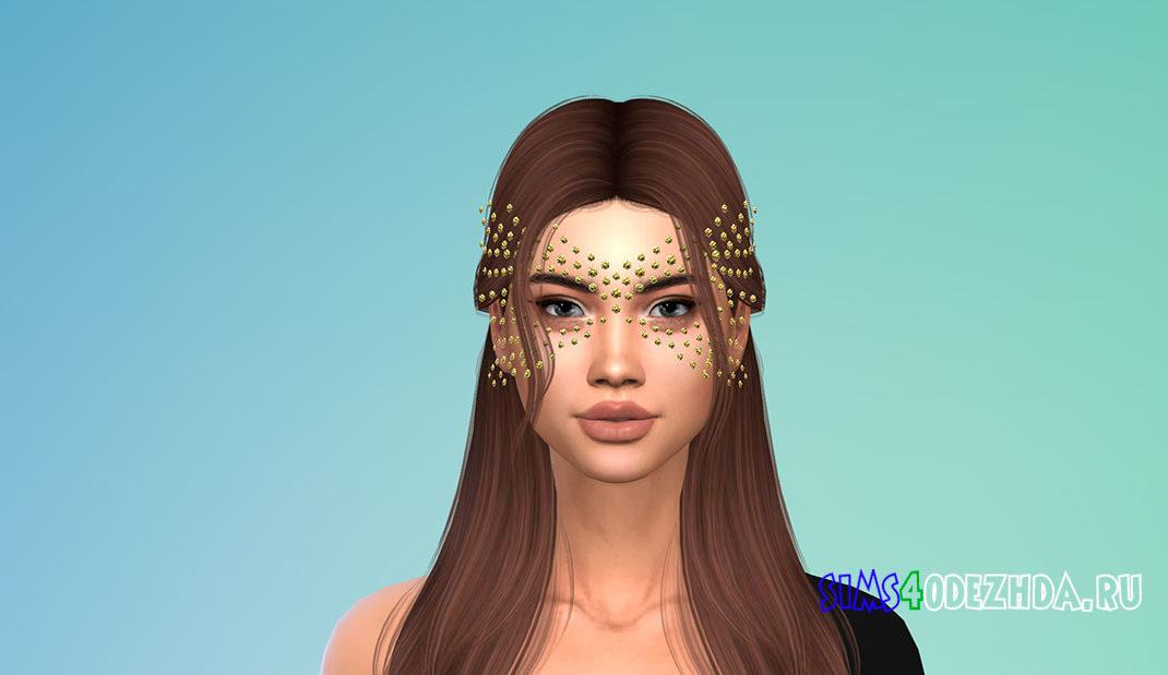 Фэнтезийная маска с кристаллами для Симс 4 – фото 1