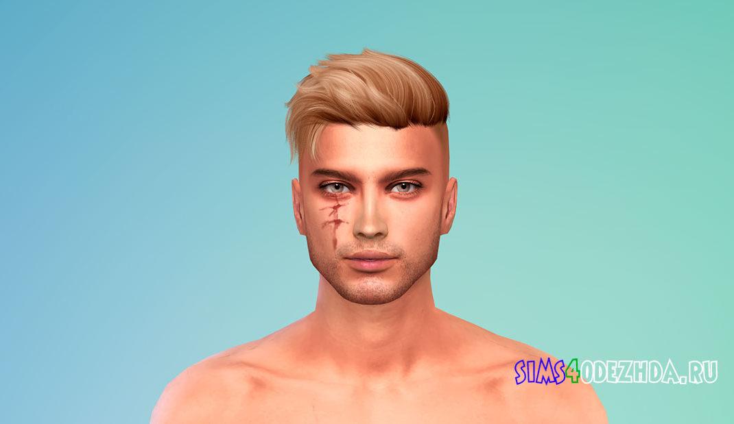 Глубокие шрамы на лице для Симс 4 – фото 1