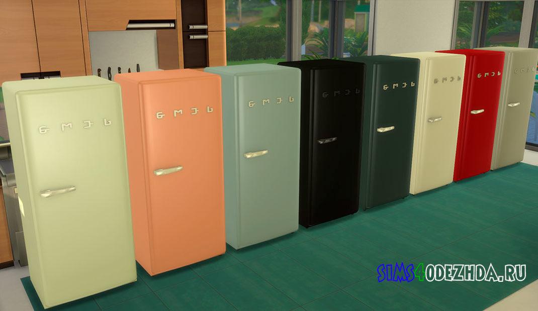 Холодильник SMEGlish с ручкой слева для Симс 4 – фото