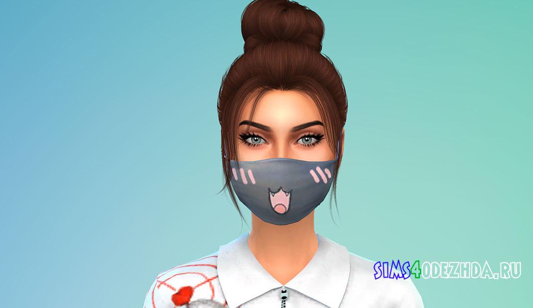 Кавайная маска для Симс 4 – фото 1