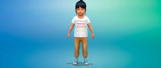 Коллекция футболок для малышей для Симс 4 – фото 1