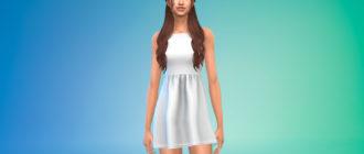 Короткое платье Sabrina для Симс 4 – фото 1