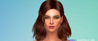 Круглые очки для Симс 4 – фото 1