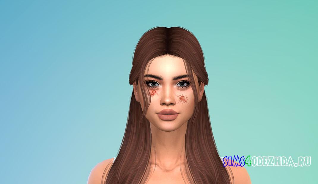 Лицевые шрамы N03 для Симс 4 – фото 1