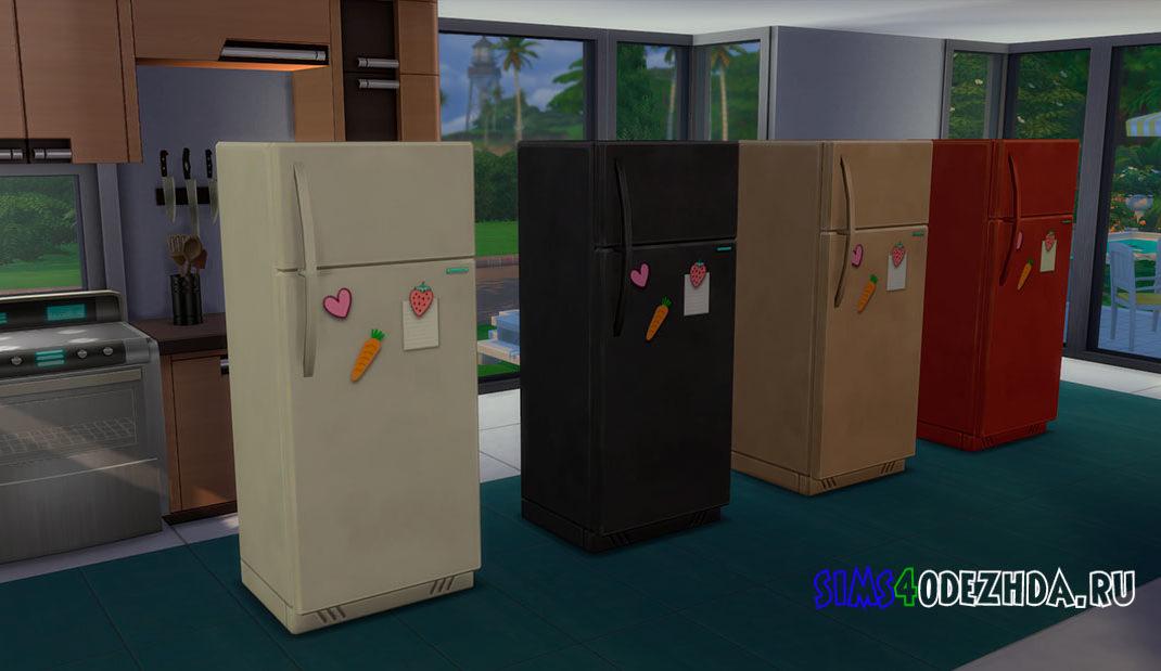 Маленький холодильник с магнитиками для Симс 4 – фото