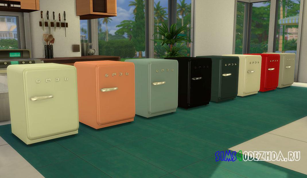 Мини-холодильник SMEGlish для Симс 4 – фото