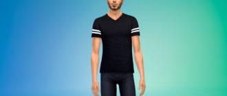 Мужская футболка Dylan для Симс 4 – фото 1