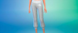 Пижамные штаны Calvin Klein для Симс 4 – фото 1