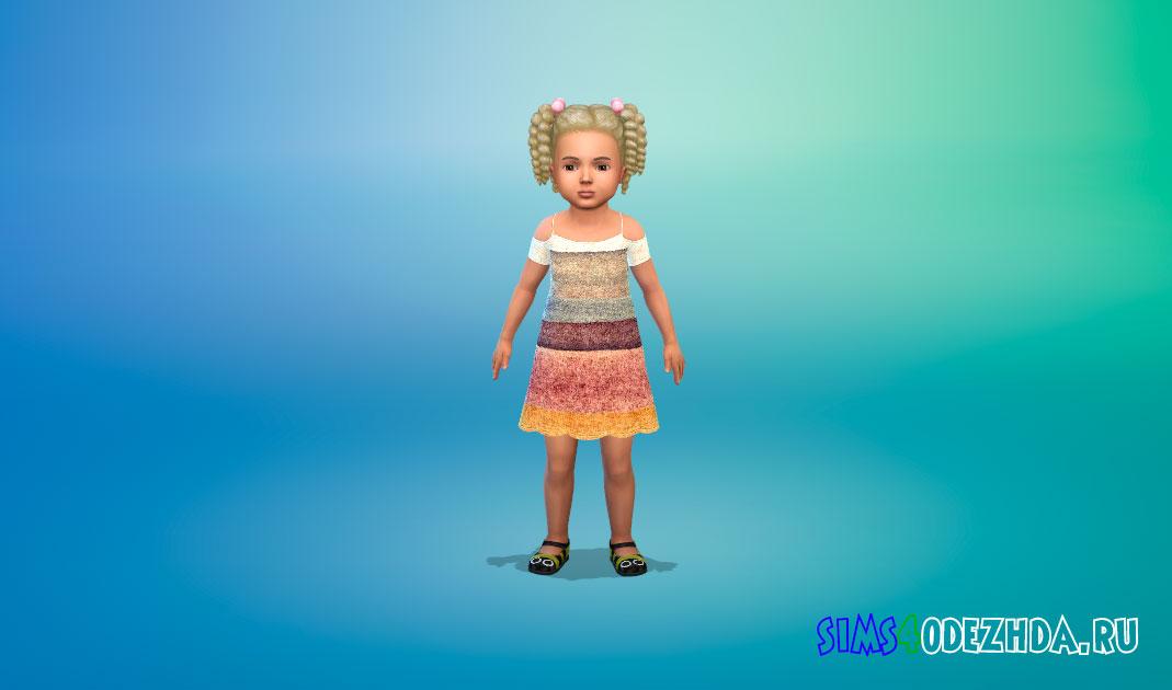 Платье для тоддлеров для Симс 4 – фото 1