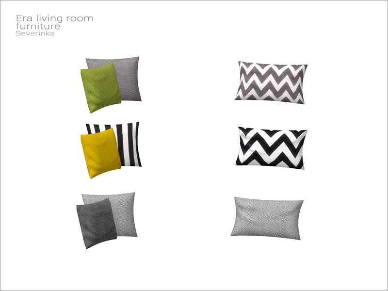 Подушки на 2-х местный диван для Симс 4 – фото