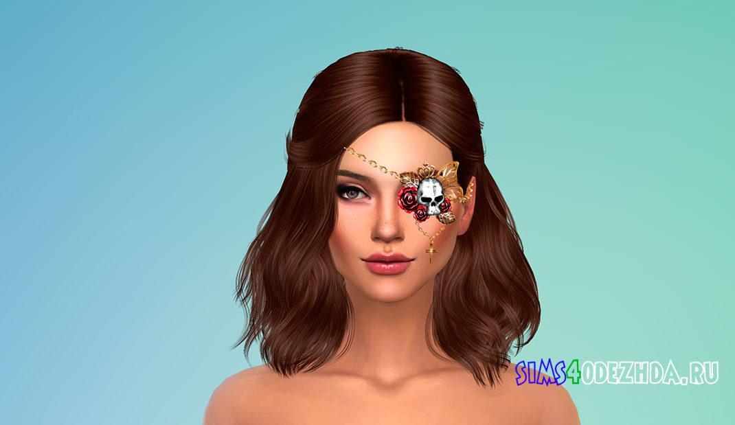 Повязка на глаз с черепом для Симс 4 – фото 1